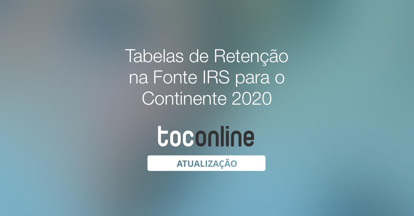 Post tabelas retencao 2020