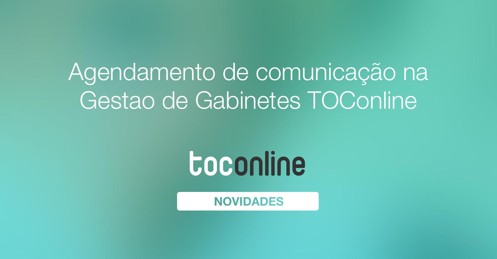 Agendamento comunicac ao toconline  1