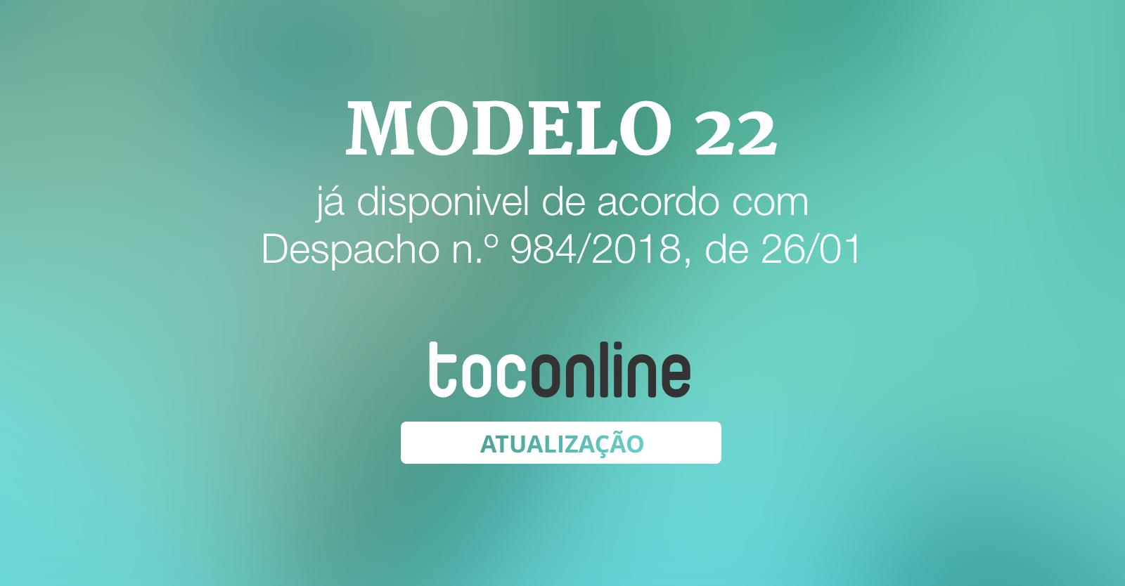 Post modelo 22 984 2018